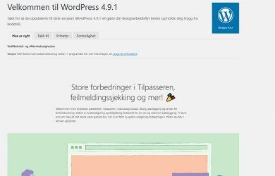 Liten oppdatering til WordPress