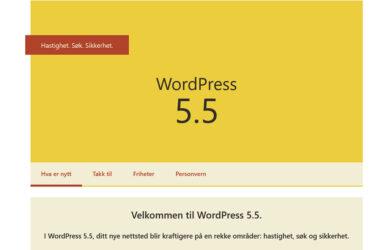 Velkommen til WordPress 5.5